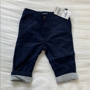 Oshkosh lined navy pants NWT